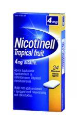 NICOTINELL TROPICAL FRUIT 4 mg lääkepurukumi 24 fol