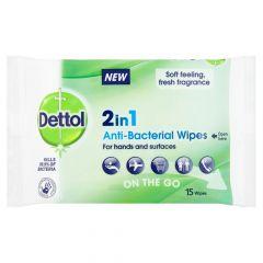 Dettol antibakteeriset puhdistuspyyhkeet 15 kpl