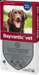 BAYVANTIC VET KOIRILLE 25-40 KG 400/2000 mg paikallisvaleluliuos 4x4 ml