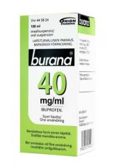 BURANA 40 mg/ml oraalisusp 100 ml