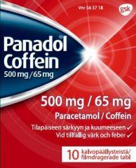 PANADOL COFFEIN 500/65 mg tabl, kalvopääll 10 fol
